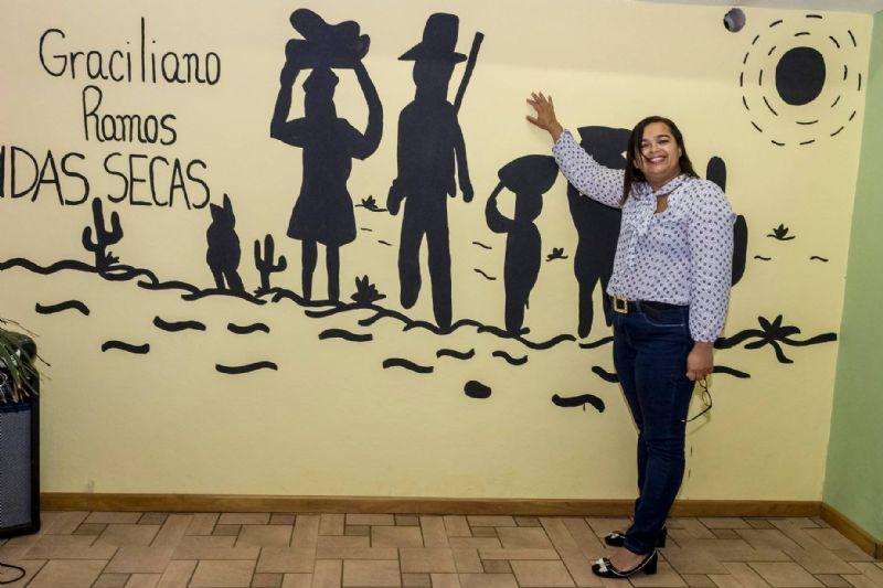 Inauguração da Sala de Leitura Graciliano Ramos (Escola Municipal Dr Theodoro Machado, Petrópolis, RJ)